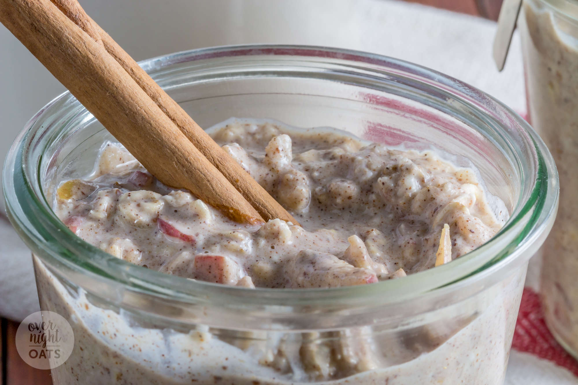 Apple Cinnamon and Nut Butter Overnight Oats