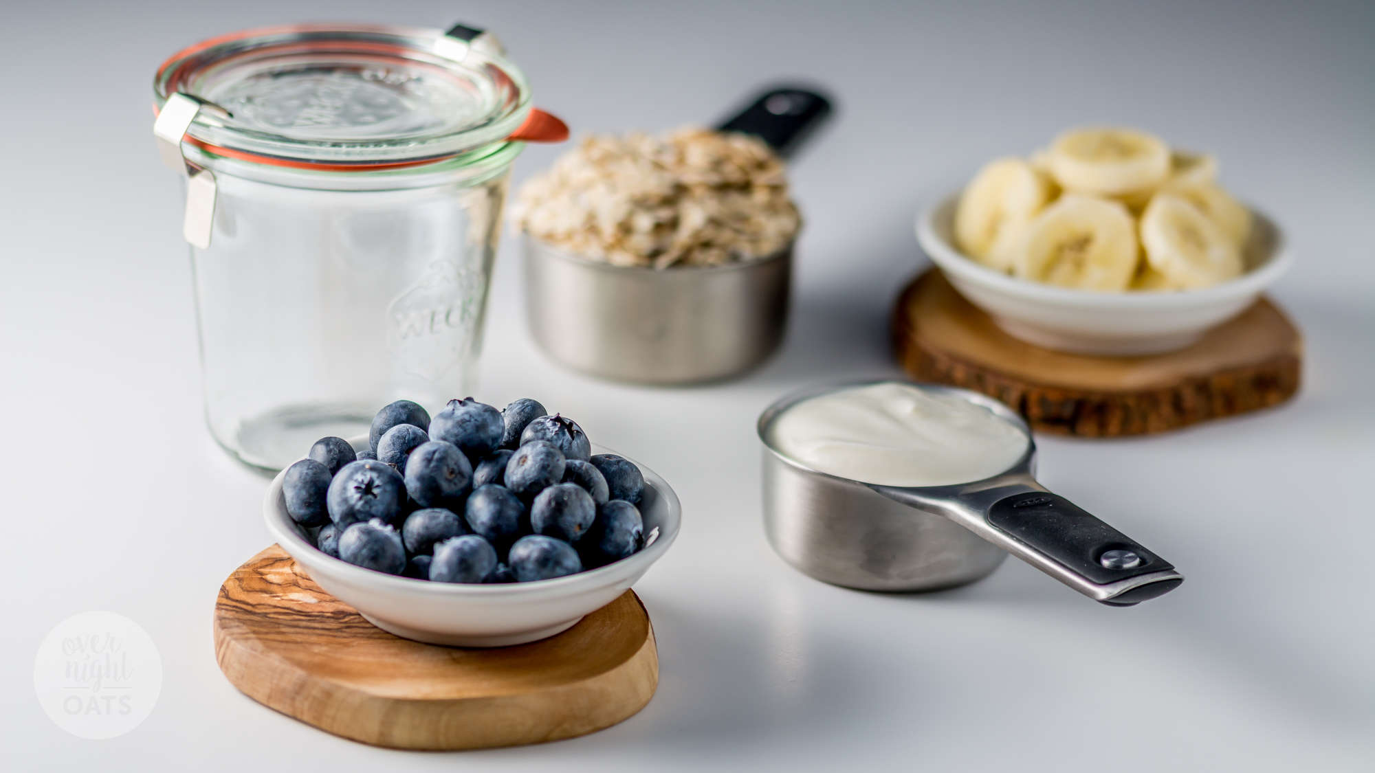 Blueberry and Banana Overnight Oats