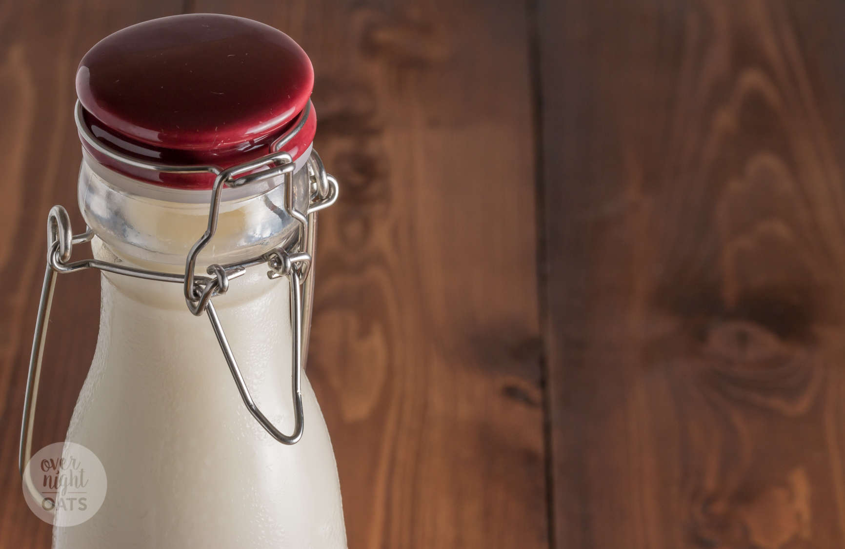 almond milk in kilner bottle